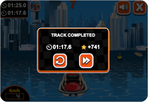 well done track completed