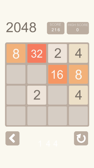 2048 puzzle game play