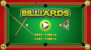 billiards game start