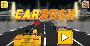 button to play car rush game