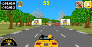 car racing on the streets