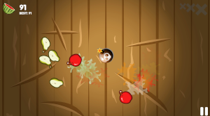 game play cutting fruits