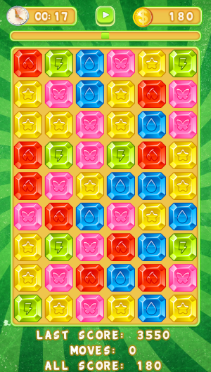 jewels match3 game play