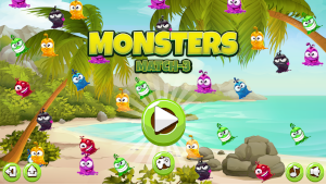 match 3 puzzle monsters start game