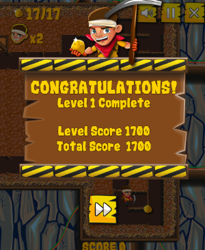 first level completed