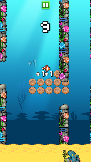 collect all coins by playing splishy fish