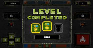 tank wars level completed score
