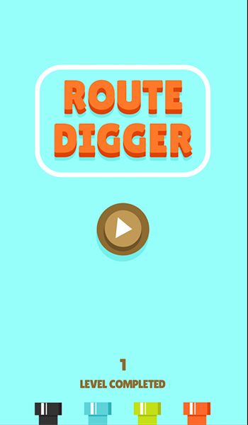 route digger start screen