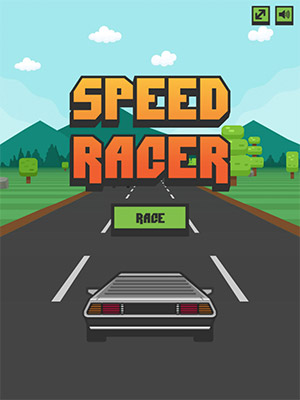 speed racer start screen