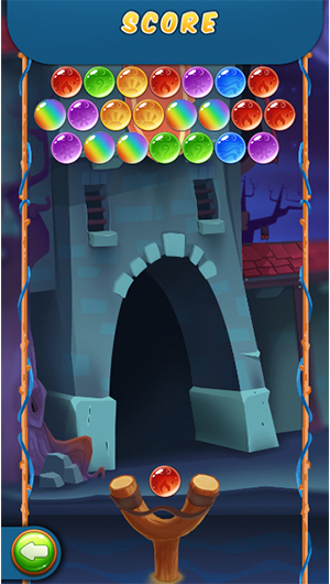 magic world bubble game play