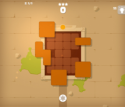 puzzle block ancient game play