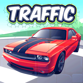 cross the road traffic game icon