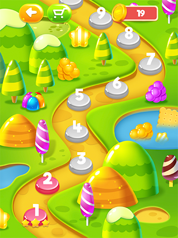 sweet candy puzzle levels