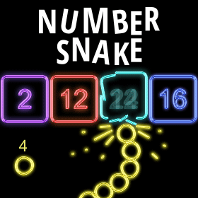 number snake game icon