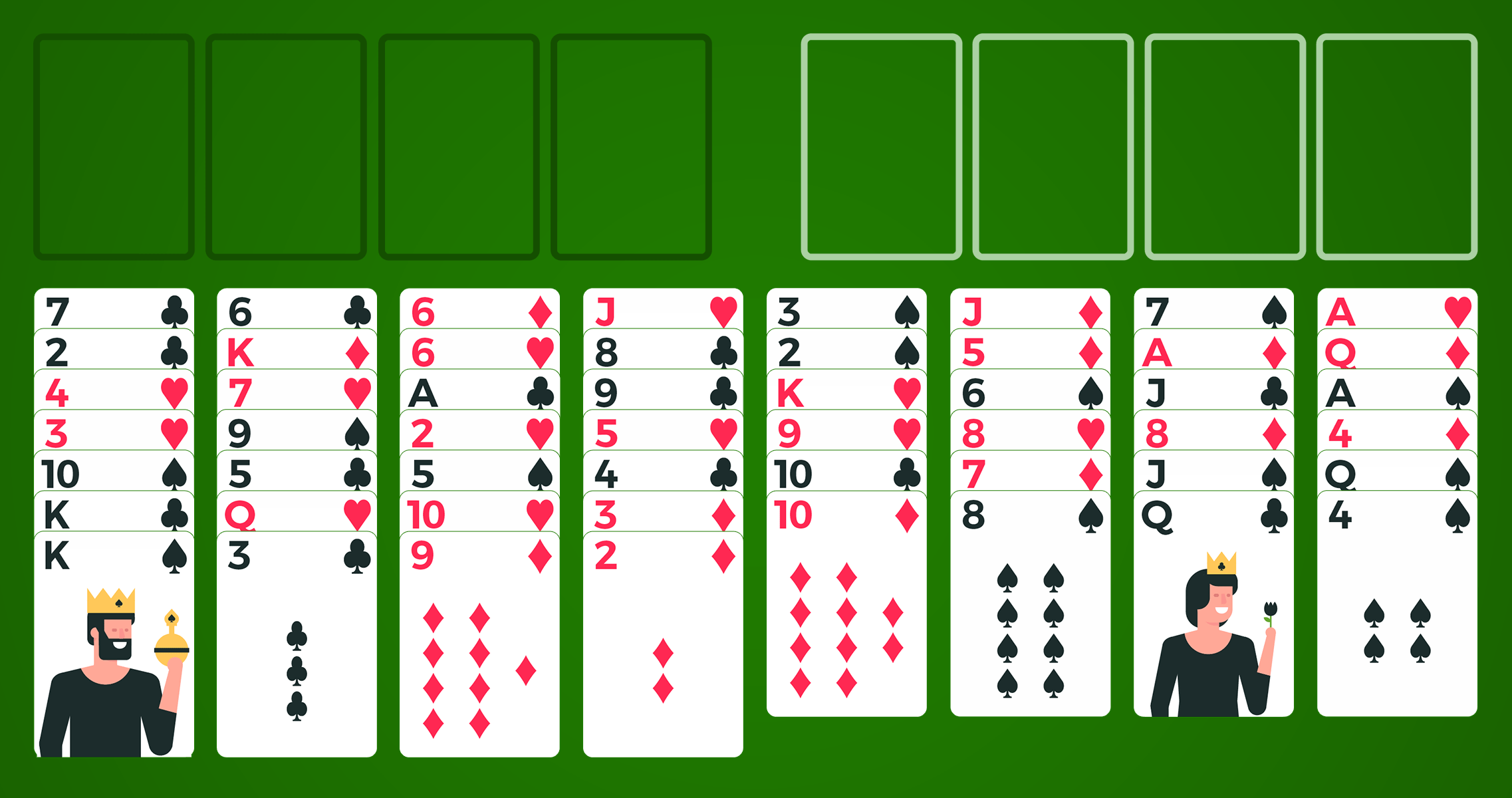freecell solitaire card board
