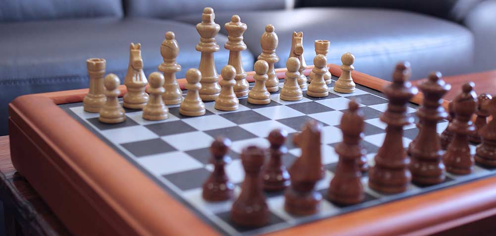 chess board in the house