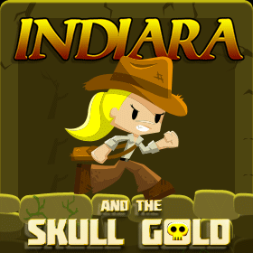 indiara and the skull gold icon