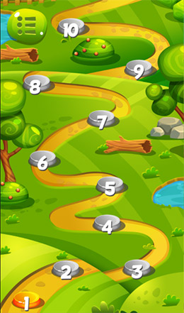 forest game puzzle levels screen