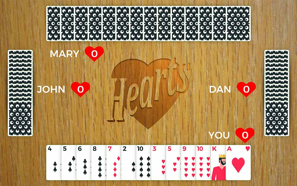 hearts card game play
