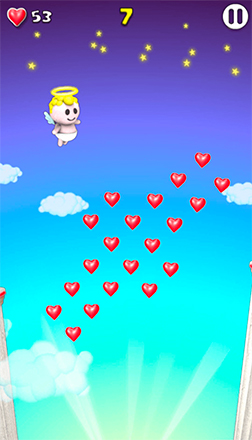 angel collect hearts